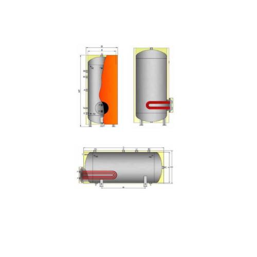 Vertical Boiler 2500 L - 3000 L - 4000 L - 5000 L